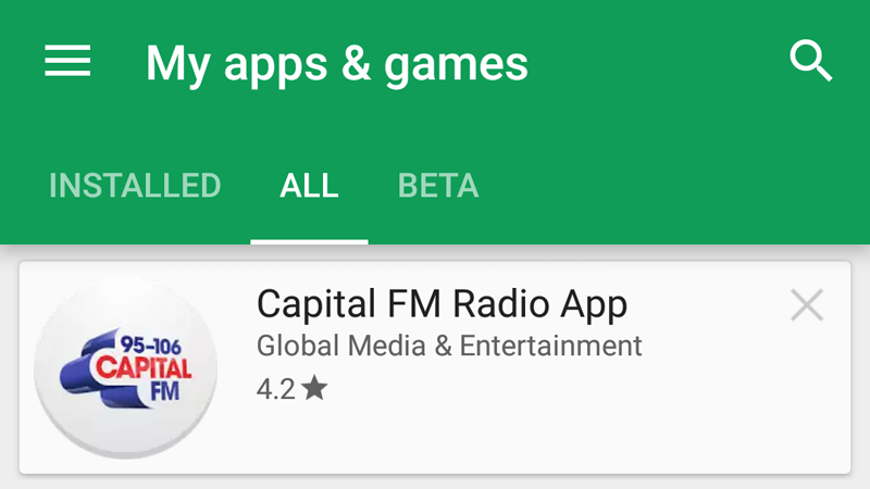 Remove app references in Google Play