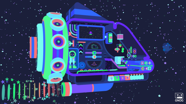 GNOG (PS4) - regulating a spaceship is one of a saner goals