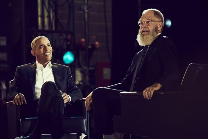 President Barack Obama, David Letterman
